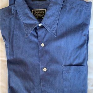 Men's Britches Of Georgetown Dress Shirt Deep Blue